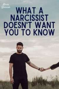 narcissist does not want you to know